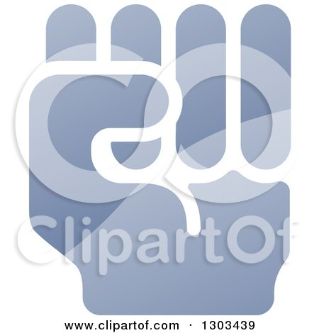 Clipart Of A Shiny Gradient Fisted Hand Royalty Free Vector Illustration