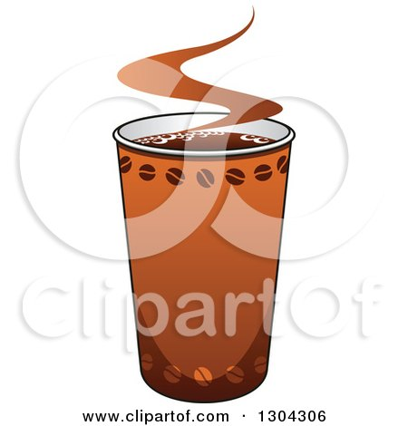 Clipart of a Take out Coffee Cup - Royalty Free Vector Illustration by Vector Tradition SM