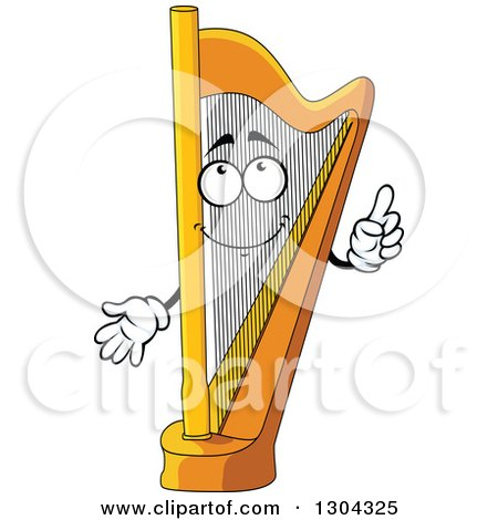 Clipart of a Cartoon Harp Character Holding up a Finger - Royalty Free Vector Illustration by Vector Tradition SM
