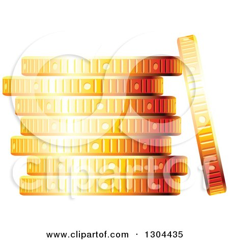 Clipart of a 3d Stack of Golden Coins - Royalty Free Vector Illustration by Vector Tradition SM
