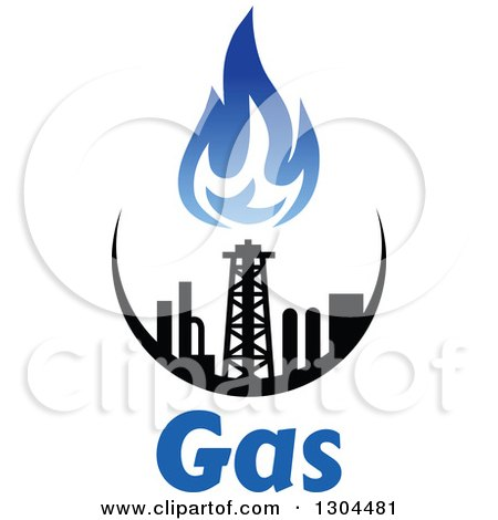 clipart of a black and blue natural gas and flame design over text 2 rh clipartof com natural gas energy clipart Natural Gas Symbol