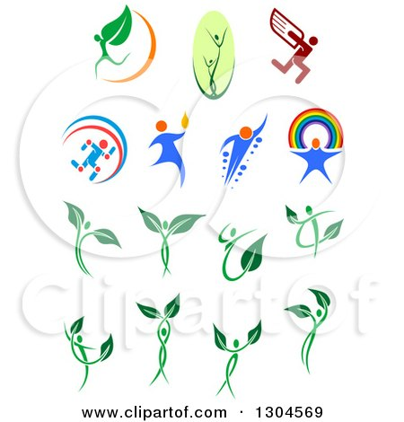 Clipart of Leaf and Dna People - Royalty Free Vector Illustration by Vector Tradition SM