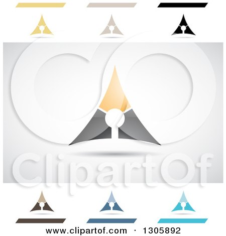 Clipart of Abstract Letter a Automatic Design Elements - Royalty Free Vector Illustration by cidepix