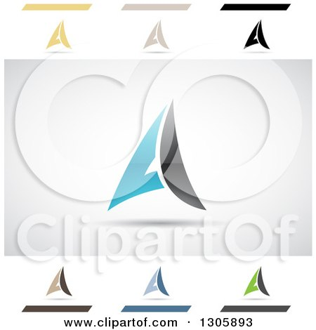 Clipart of Abstract Letter a Ace Mail Design Elements - Royalty Free Vector Illustration by cidepix