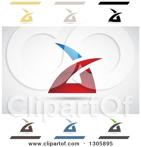 Clipart of Abstract Letter a Air Sharp Design Elements - Royalty Free Vector Illustration by cidepix
