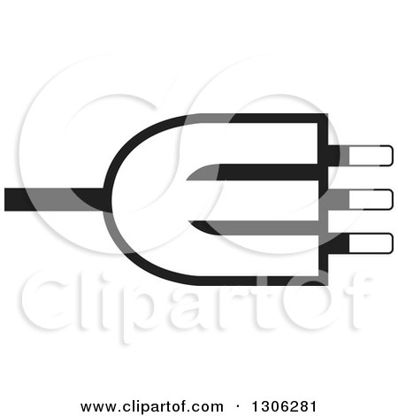 Clipart Of A Black And White Letter E Alphabet Design With