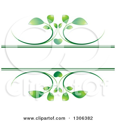 Clipart of a Green Heart and Vine Frame - Royalty Free Vector Illustration by Lal Perera