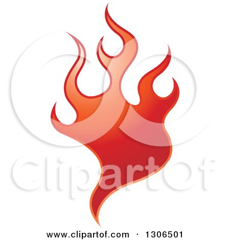 Clipart of a Gradient Red Fire - Royalty Free Vector Illustration by Lal Perera
