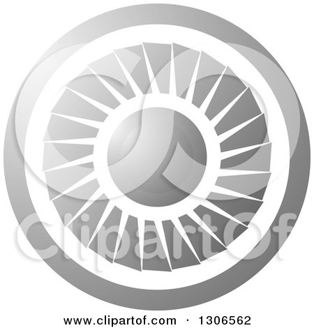Clipart of a Round Silver Jet Engine - Royalty Free Vector Illustration by Lal Perera