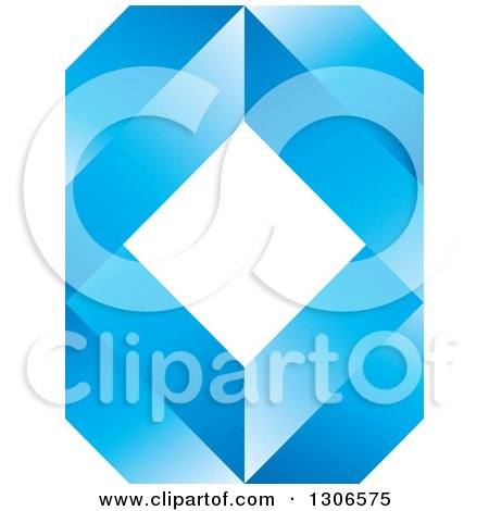 Clipart of a Blue Abstract Diamond and Geometric Design 2 - Royalty Free Vector Illustration by Lal Perera