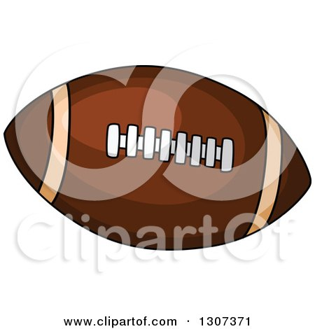 Clipart of a Cartoon Pigskin American Football - Royalty Free Vector Illustration by Vector Tradition SM