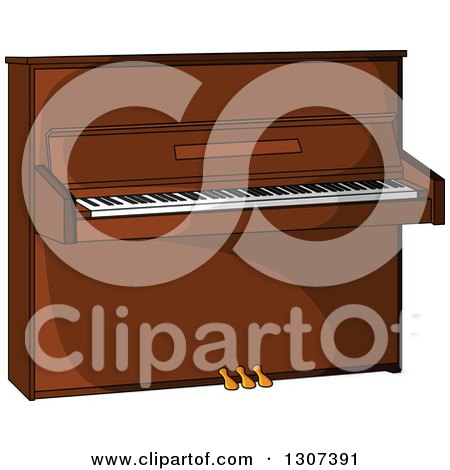 Clipart of a Cartoon Piano - Royalty Free Vector Illustration by Vector Tradition SM