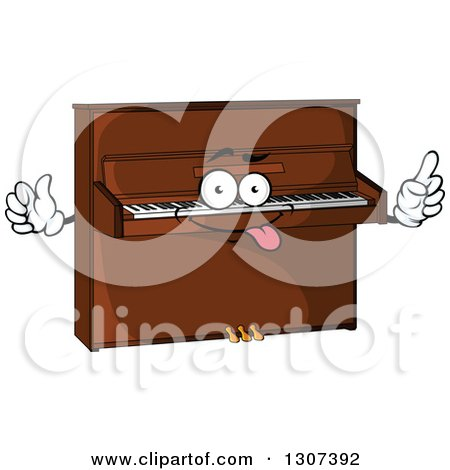 Clipart of a Cartoon Goofy Piano Character - Royalty Free Vector Illustration by Vector Tradition SM