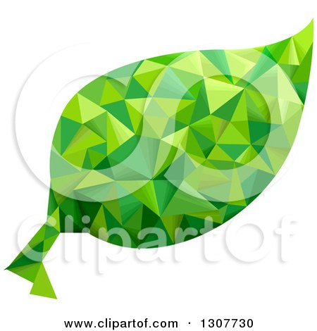 Clipart of a Geometric Green Leaf - Royalty Free Vector Illustration by BNP Design Studio