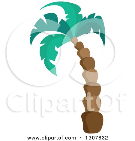Clipart of a Tall Palm Tree - Royalty Free Vector Illustration by visekart