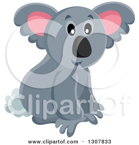 Clipart of a Wild Koala - Royalty Free Vector Illustration by visekart