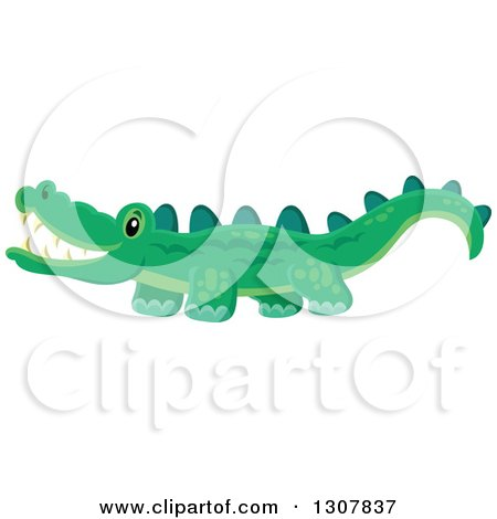 Clipart of a Wild African Crocodile - Royalty Free Vector Illustration by visekart
