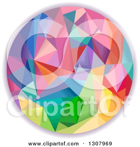 Clipart of a Colorful Geometric Circle - Royalty Free Vector Illustration by BNP Design Studio