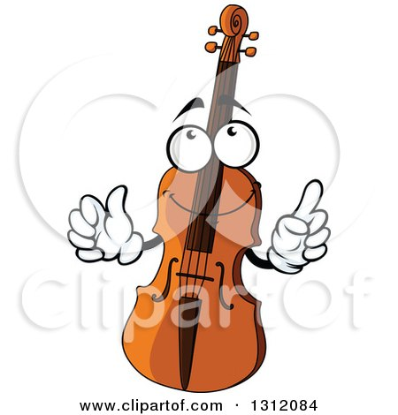 Cartoon Trombone Clipart of a Black and...