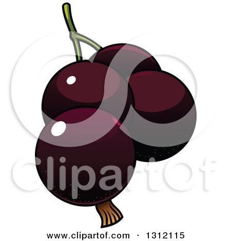 Clipart of Cartoon Dark Currants - Royalty Free Vector Illustration by Vector Tradition SM