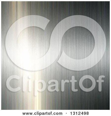 Clipart of a Background of Brushed Metal Reflecting Light - Royalty Free Vector Illustration by KJ Pargeter