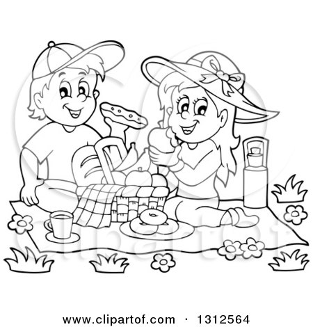 Royalty Free RF Clipart Of Picnics Illustrations