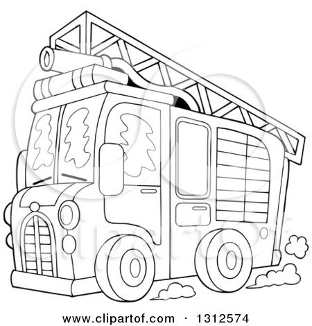 coloring page outline of a fire truck with a ladder billiards clip art transparent billiard clip art free