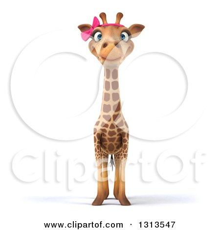 Clipart of a 3d Female Giraffe - Royalty Free Illustration by Julos