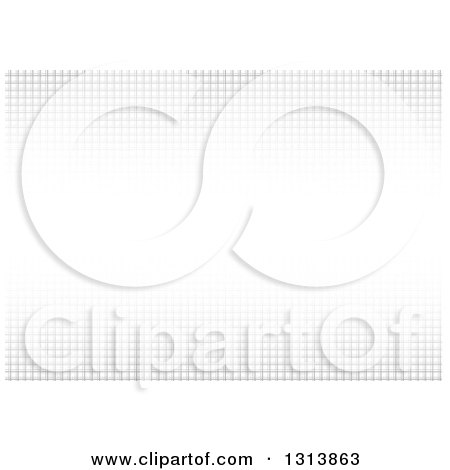 Clipart of a Background of Grayscale Mesh with a Bright Center - Royalty Free Vector Illustration by dero