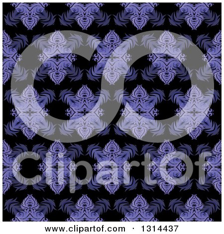 Clipart of a Seamless Purple Pattern Background - Royalty Free Vector Illustration by KJ Pargeter