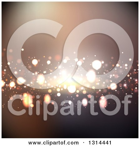 Clipart of a Background of Bright Lights - Royalty Free Vector Illustration by KJ Pargeter
