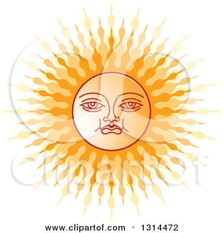 Clipart of a Sinhalese New Year Sun - Royalty Free Vector Illustration by Lal Perera