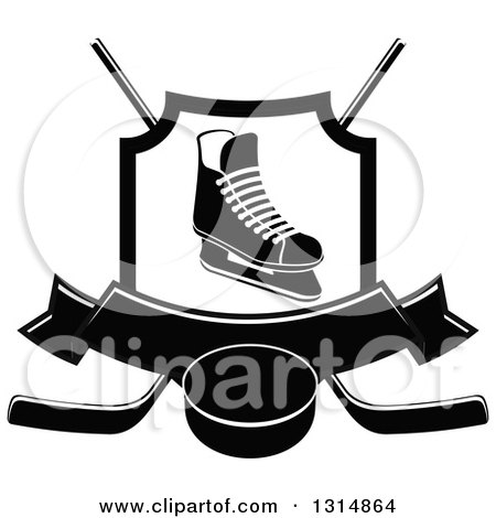 Royalty-Free (RF) Hockey Skate Clipart, Illustrations, Vector ...