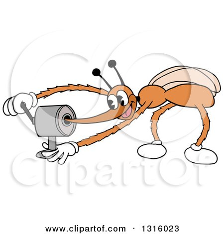Clipart of a Cartoon Mosquito Sharpening His Stinger - Royalty Free Vector Illustration by LaffToon