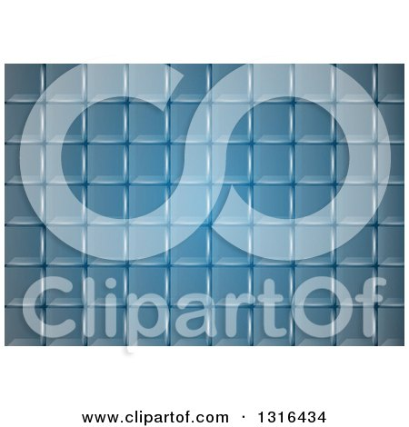 Clipart of a Blue Grid Background - Royalty Free Vector Illustration by dero