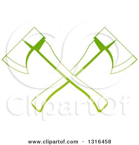 Gradient Green Tree Surgeon Logo of Crossed Axes Posters, Art Prints