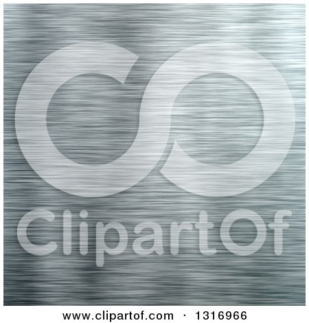 Clipart of a Brushed Aluminum Texture Background - Royalty Free Illustration by Arena Creative