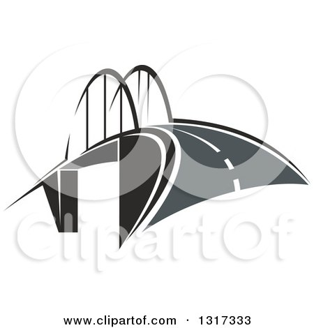 Clipart of a Road and Bridge - Royalty Free Vector Illustration by Vector Tradition SM