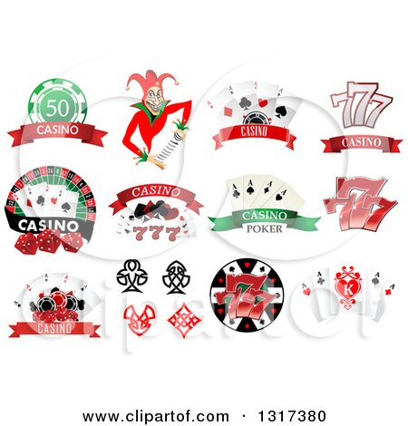 Clipart of Casino and Poker Designs 2 - Royalty Free Vector Illustration by Vector Tradition SM