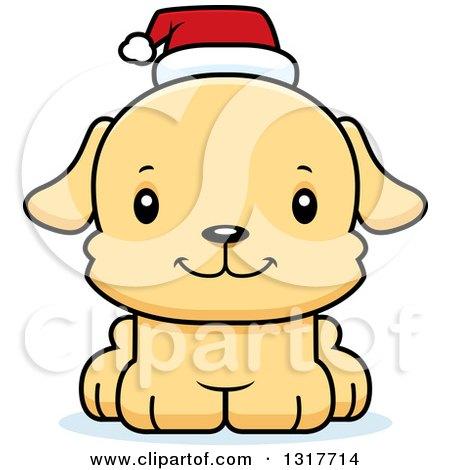 Cute cartoon christmas dogs animal clipart of a cartoon cute happy