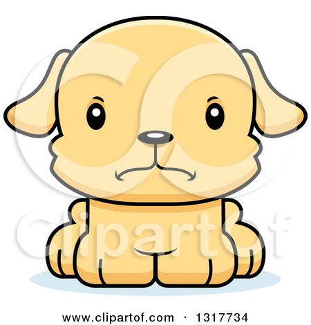 Animal Clipart of a Cartoon Cute Mad Puppy Dog - Royalty Free Vector Illustration by Cory Thoman