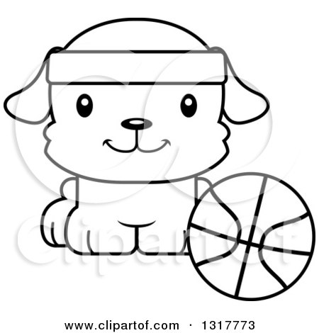 Royalty-Free (RF) Dog Basketball Clipart, Illustrations, Vector ...