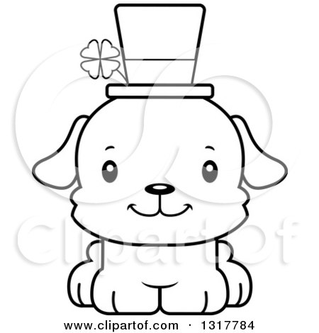 st patricks day coloring pages high school | Animal Lineart Clipart of a Cartoon Black and WhiteCute ...