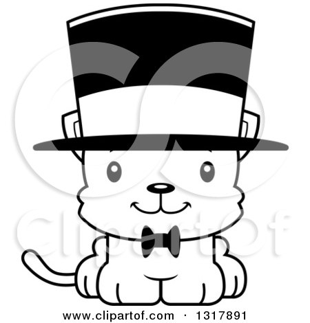 Kittens Wearing Top Hats Wearing a Top Hat