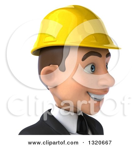 Clipart of a 3d Young White Male Architect Avatar, Facing Right - Royalty Free Illustration by Julos