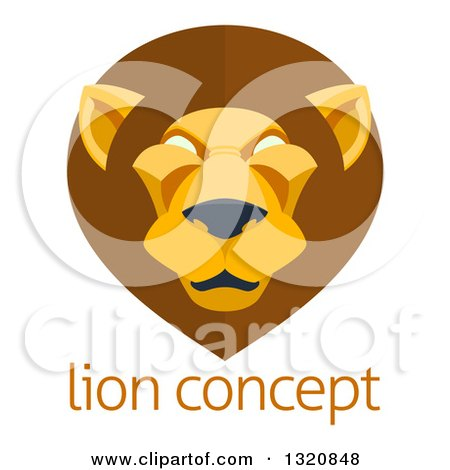 Royalty-Free (RF) Lion Face Clipart, Illustrations, Vector Graphics #1
