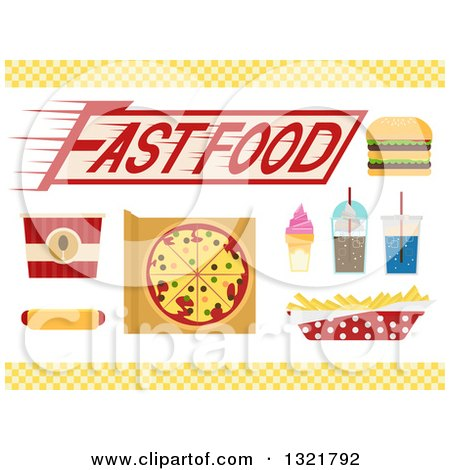 Clipart of Fast Foods - Royalty Free Vector Illustration by BNP Design Studio
