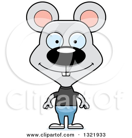 Clipart of a Cartoon Happy Casual Mouse - Royalty Free Vector Illustration by Cory Thoman