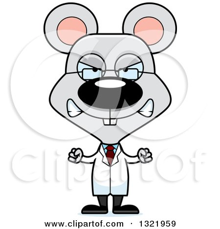 Clipart of a Cartoon Mad Mouse Scientist - Royalty Free Vector Illustration by Cory Thoman