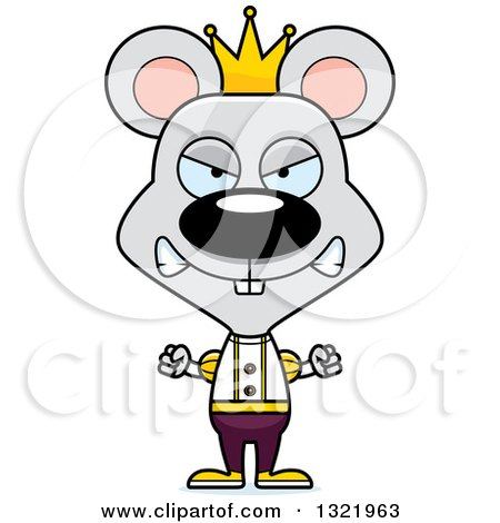 Clipart of a Cartoon Mad Mouse Prince - Royalty Free Vector Illustration by Cory Thoman